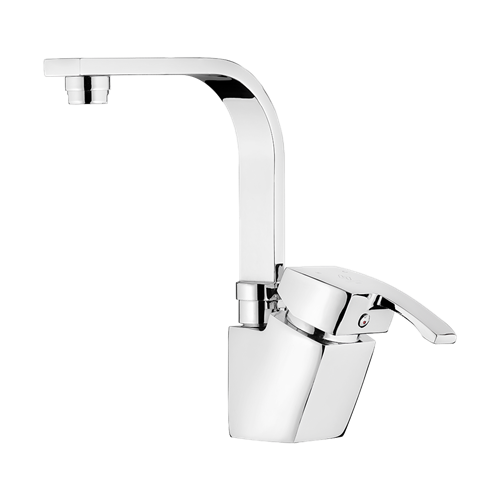 Arta Basin Mixer With Short Spout Chrome