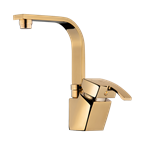 Arta Basin Mixer With Short Spout Gold