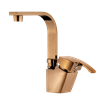 Arta Basin Mixer With Short Spout Rose Gold